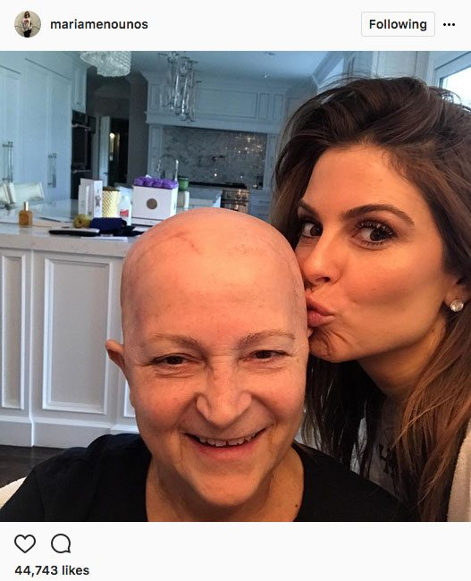 Maria Menounos brain tumour, a photo of her and her mom from Instagram