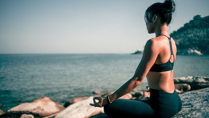 mindfulness apps, a woman in a zen state
