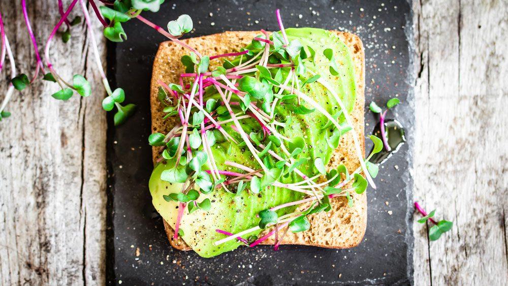 plant-based snacks   nutrient deficient potassium, avocado toast