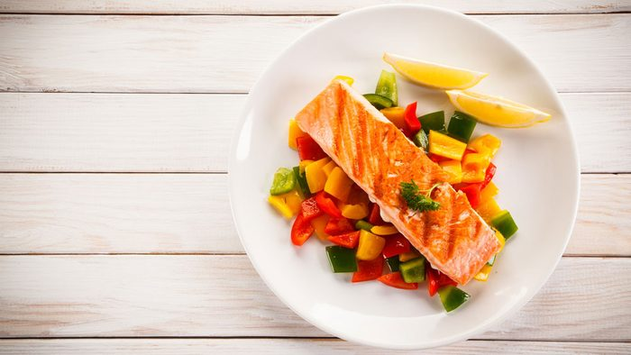 nutrient deficient vitamin b6, plate of salmon