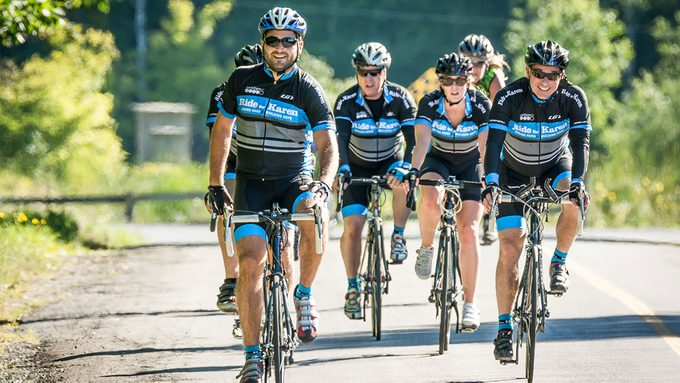 Ride For Karen, a group of cyclists