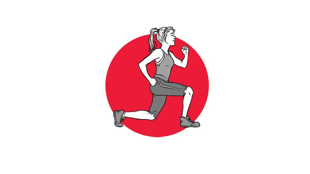 one exercise a day fitness challenge, split squats