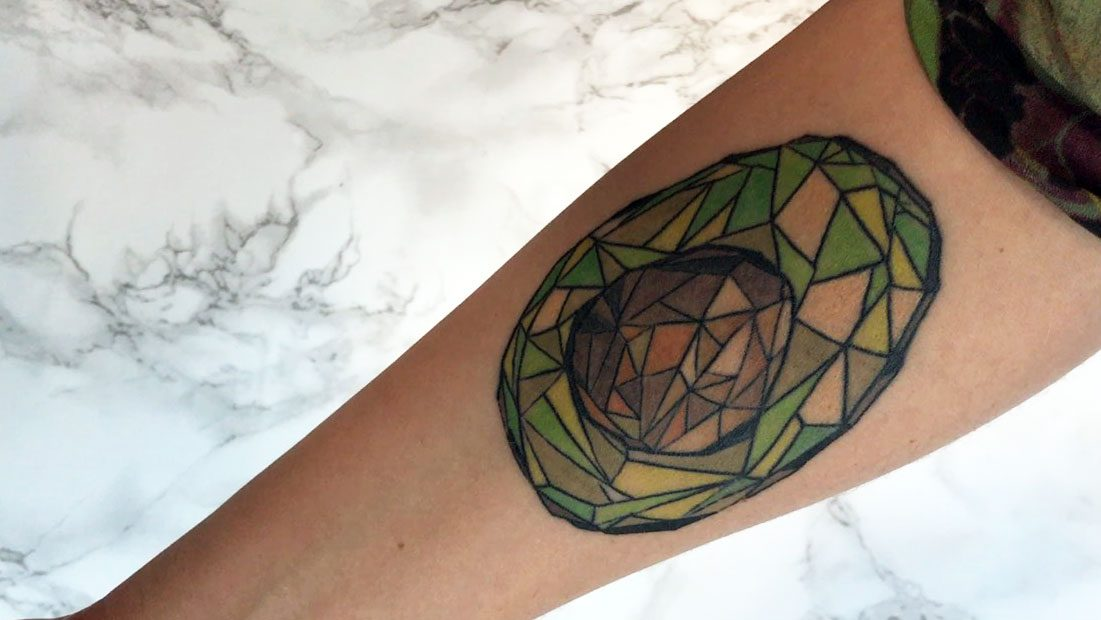 take care new tattoo, new avocado tattoo