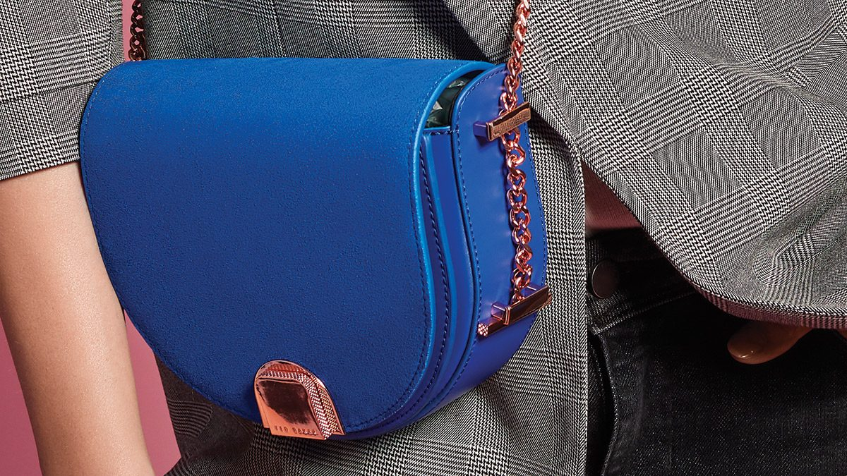 Fall Fashion Trends, vibrant blue bag