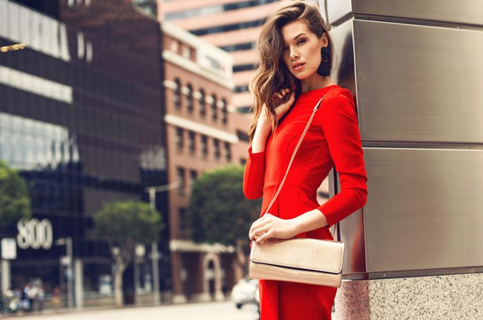 Revamp your fall wardrobe, woman wearing red
