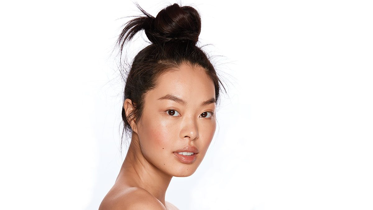 best results from masks, woman with beautiful dewy skin