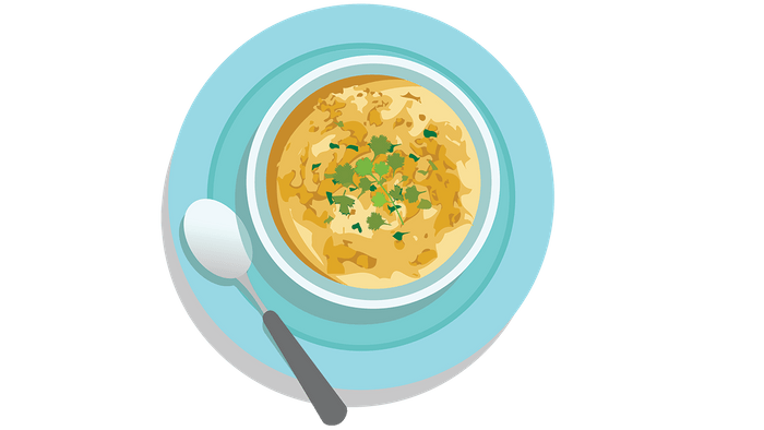 improve diabetes with cold food, a bowl of vichyssoise
