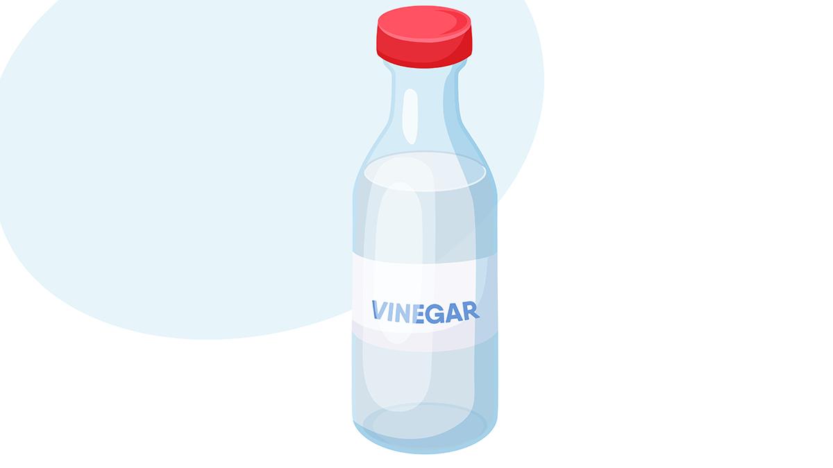 improve diabetes, a bottle of vinegar