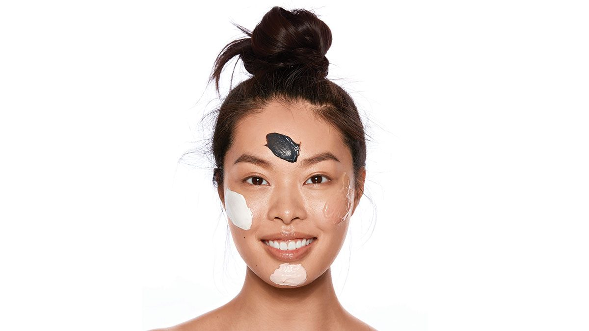new masks innovation, a woman wearing a few differen mask products