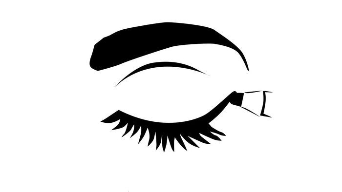 how to use eyeliner properly, an illustration of eyeliner being applied to the outer part of the eye