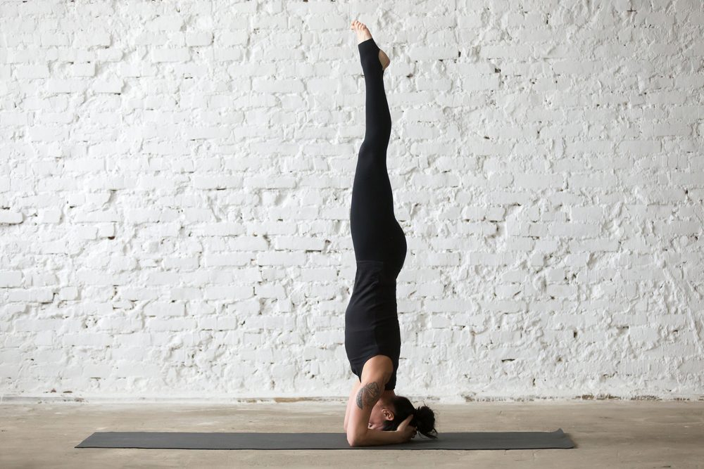 Barry's Bootcamp Toronto headstand