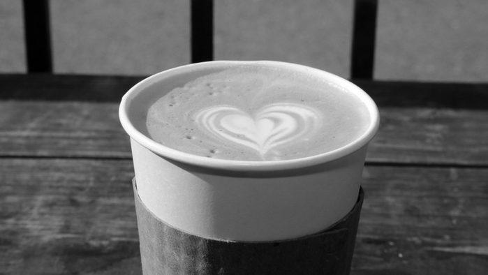 Cut back on sugar, latte
