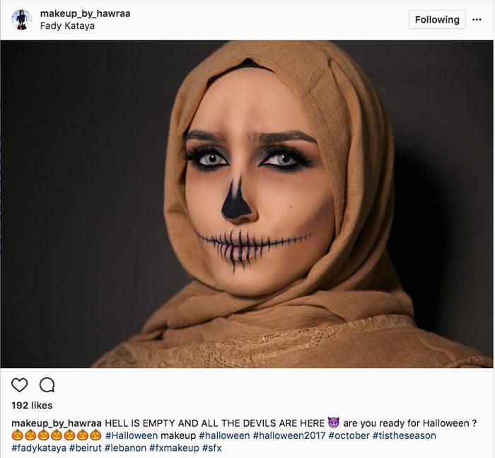 last-minute-halloween-makeup-skull