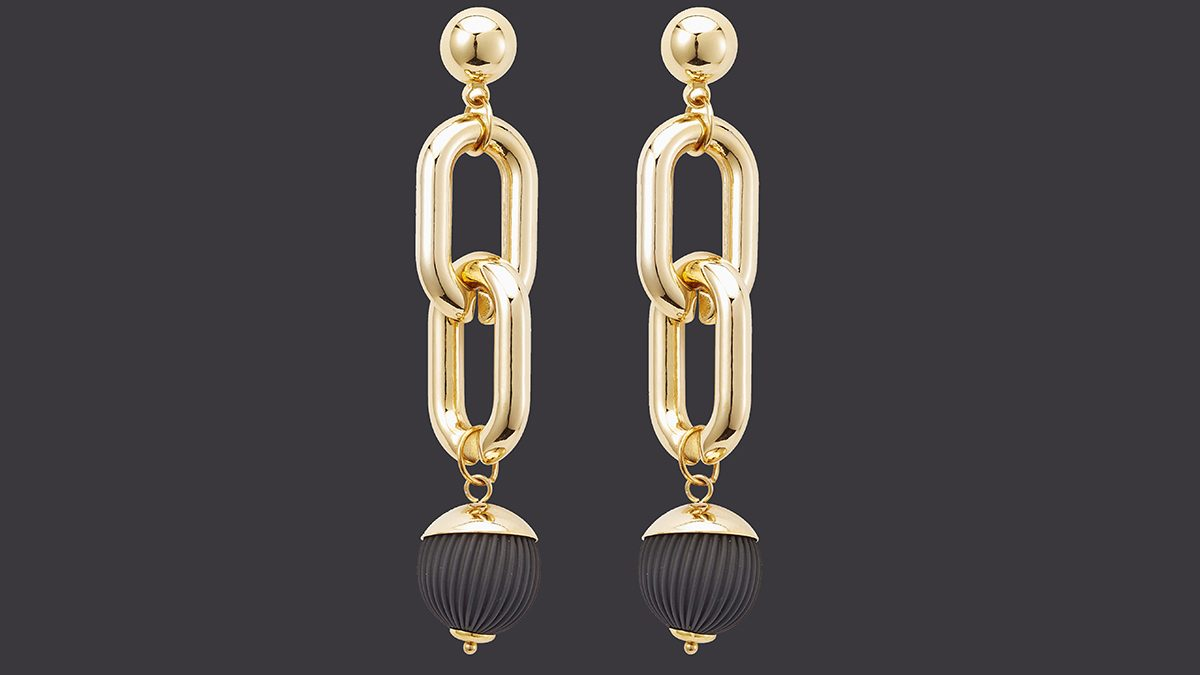 New Year's Eve Colour Winners link ball earrings