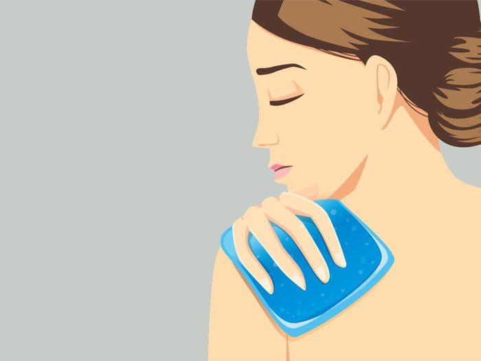 Frozen Shoulder, woman in pain