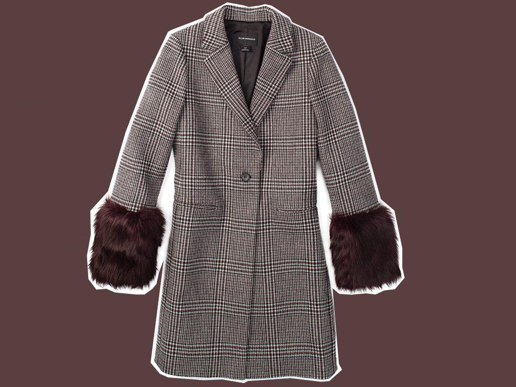 faux fur coat Club Monaco Starella Coat