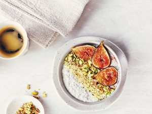 Protein-Packed, Low-Cal Fig Chia Pudding