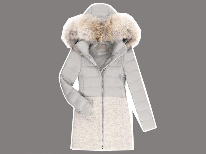 flattering long puffer coats