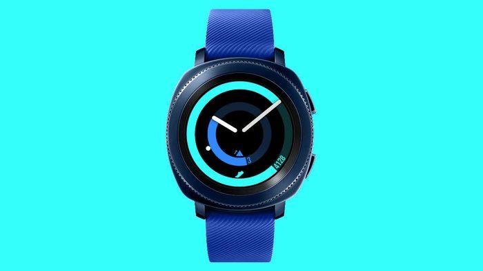 fitness smart watch Samsung Gear Sport blue