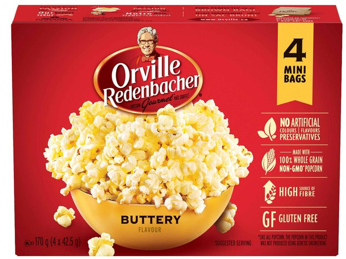 holiday foods Orville Buttery popcorn