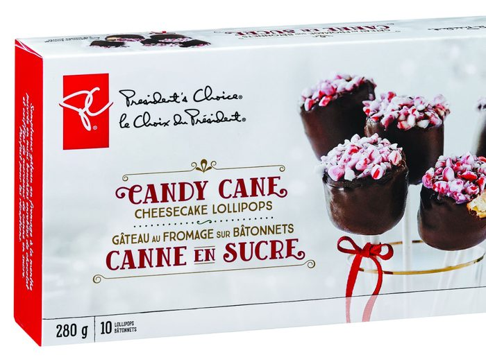 holiday foods PC candy cane cheesecake pops