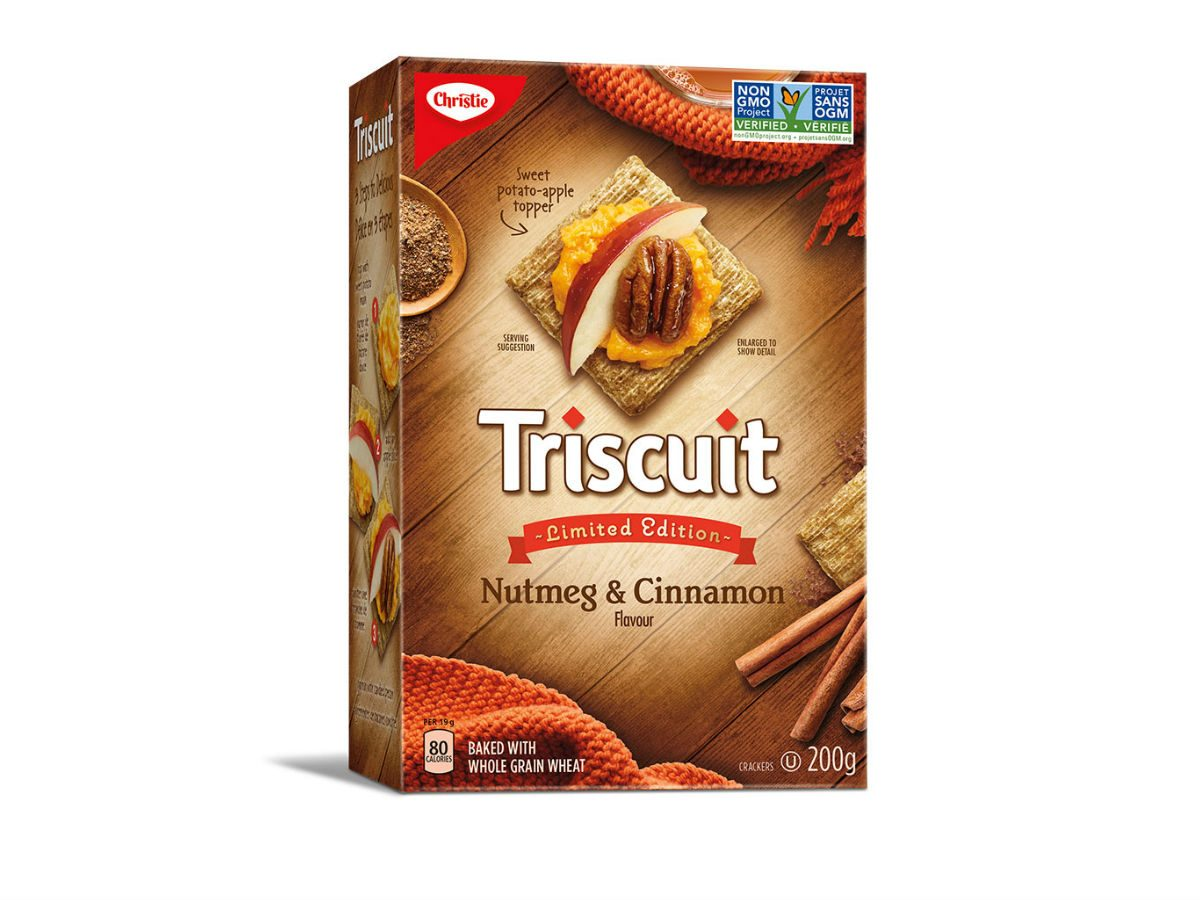 holiday foods Triscuit nutmeg and cinnamon crackers