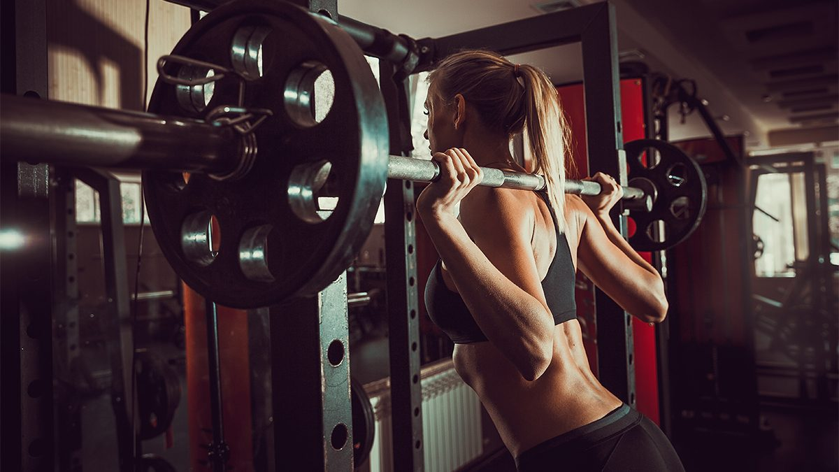 how to get abs, top of a squat