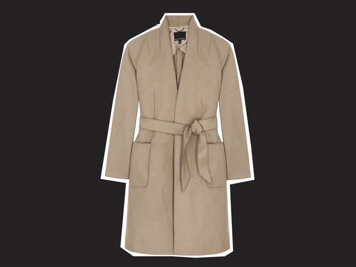wrap coats Melton wrap coat