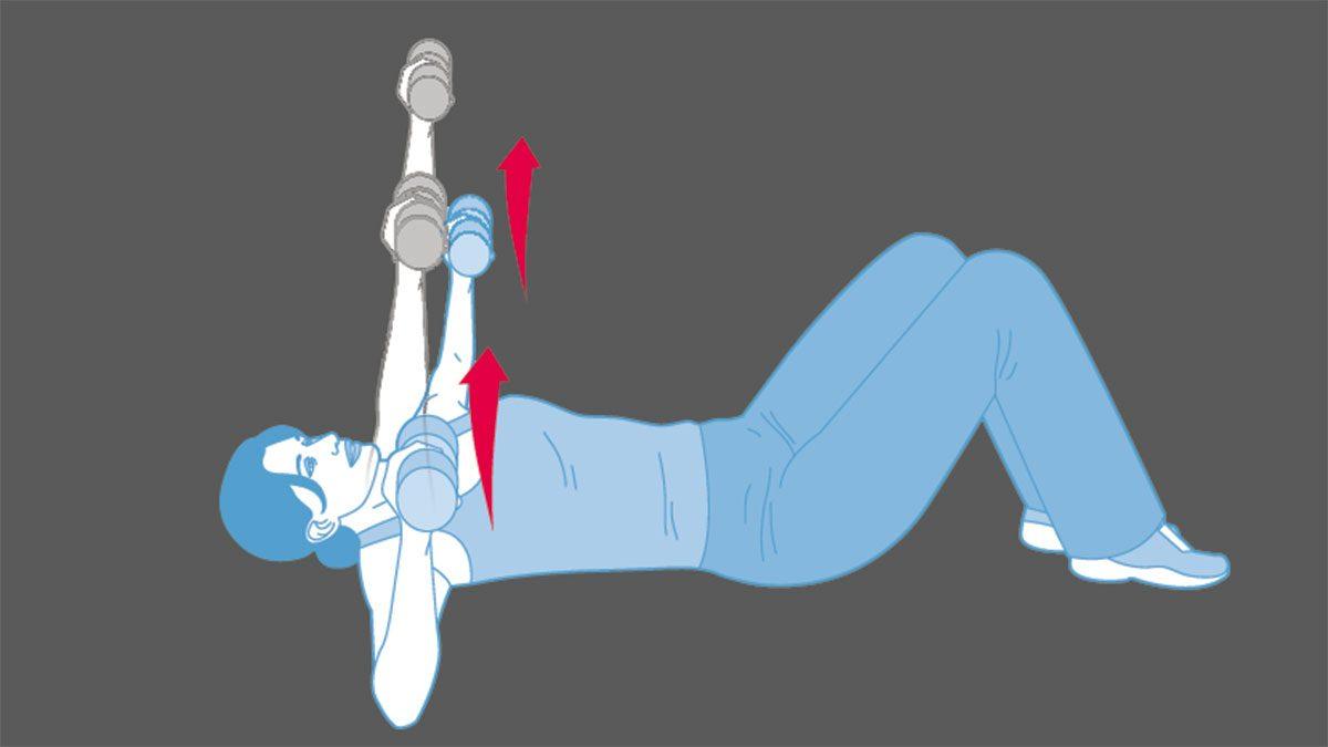 strength training exercises, chest press