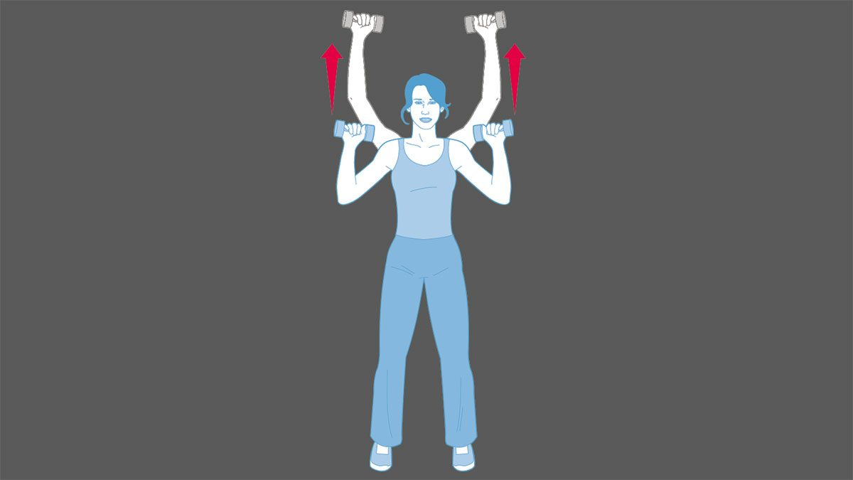 strength training exercises, Overhead Press