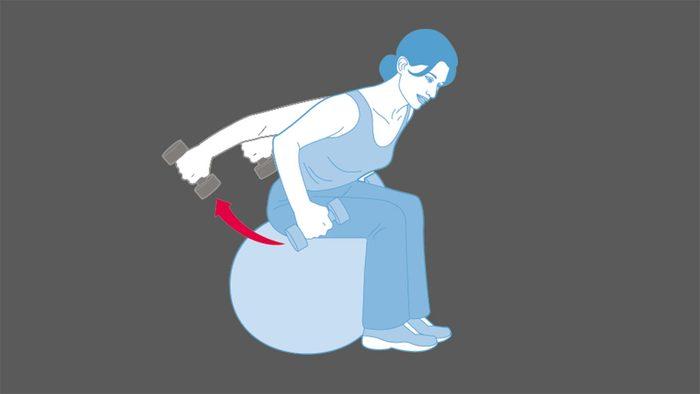 strength training exercises, Triceps Kickbacks