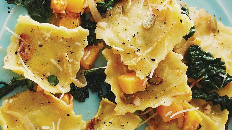 Butternut Squash Kale Ravioli