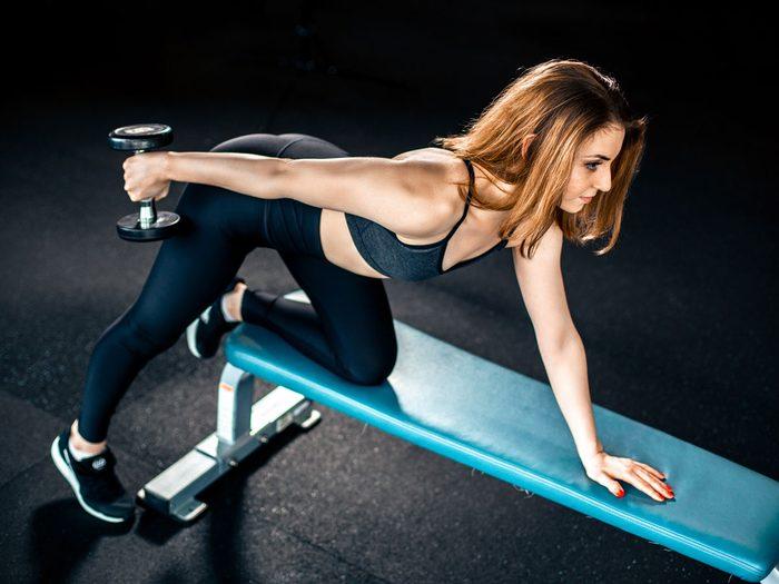 best arm exercises for women dumbbell kickback