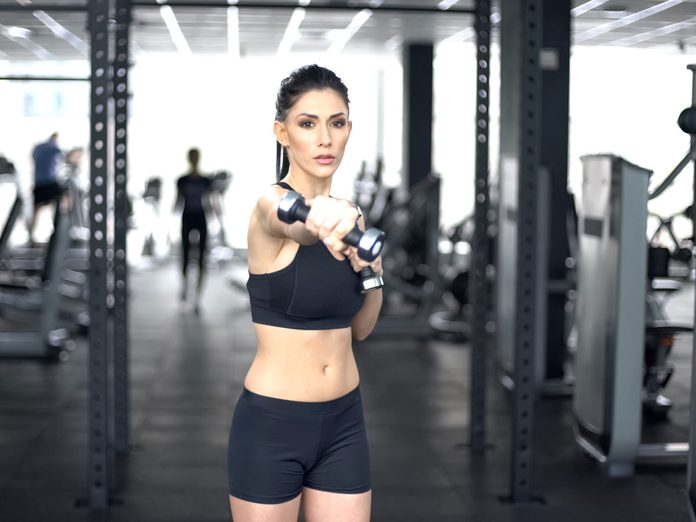 best arm exercises for women dumbbell punch