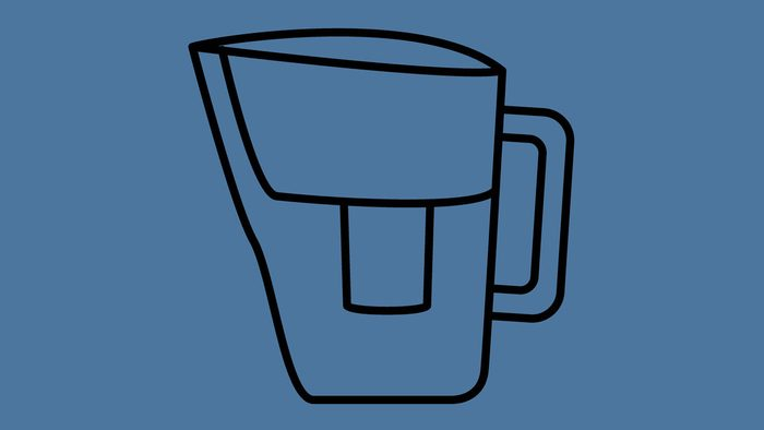 drinking tap water with water filters, water filter illustration