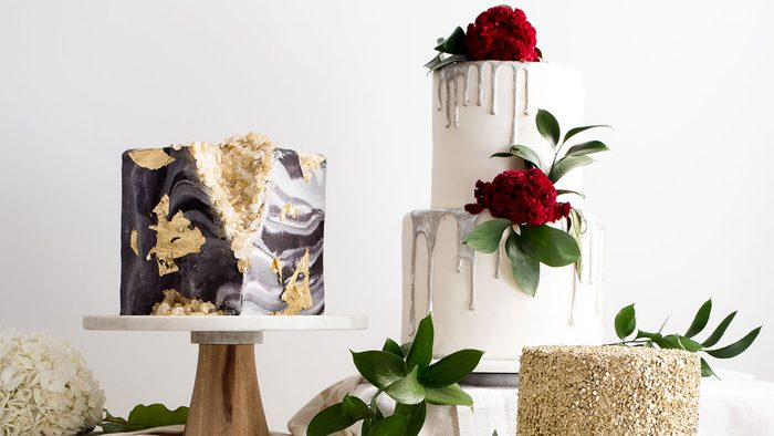 food trends 2018, glam cakes