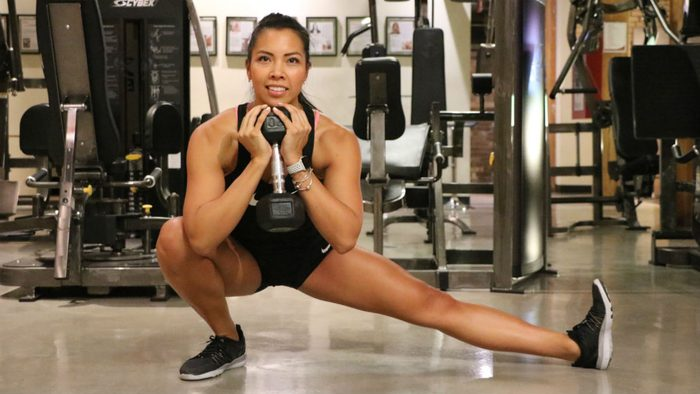 reps weights for women Cossack Squat