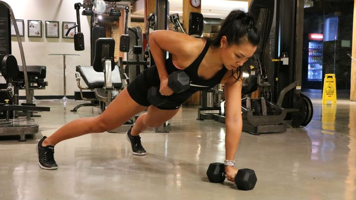 reps workout weights women renegade rows