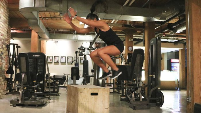 weights for women Box Jumps