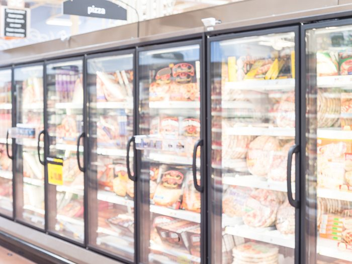 Cooking mistakes, frozen food aisle at grocery store