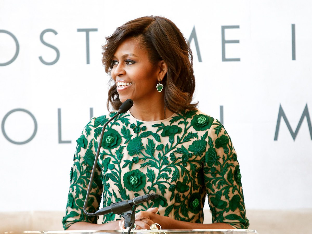Michelle Obama giving a talk