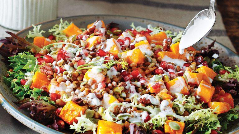 salad, butternut squash salad