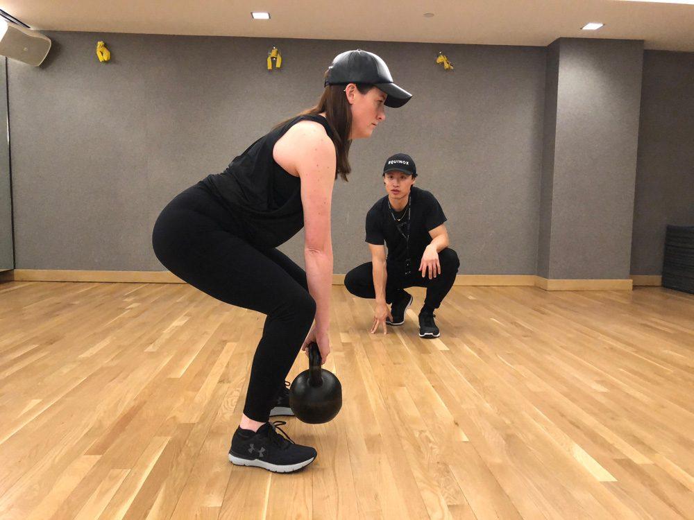 abs strength workouts Kettlebell deadlifts