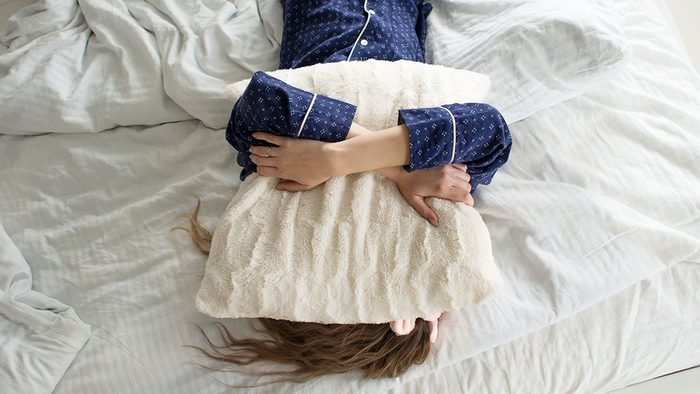 Borderline Diabetic, woman on bed