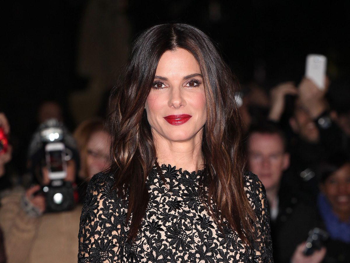 Sandra Bullock at a movie premiere. The actress has tried the penis facial