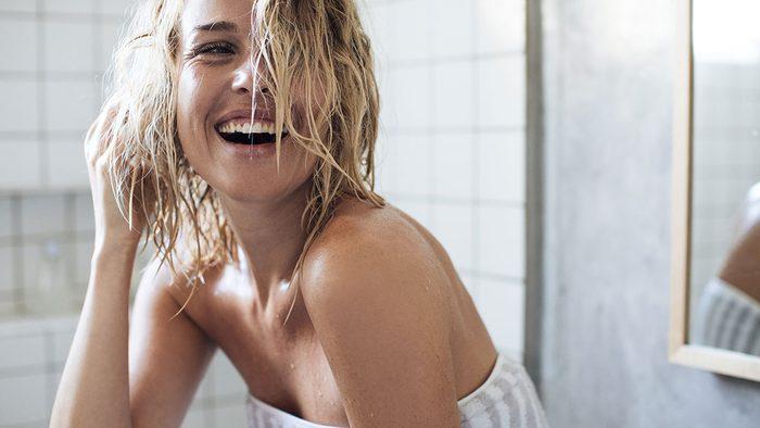 Skincare Tools, woman happy