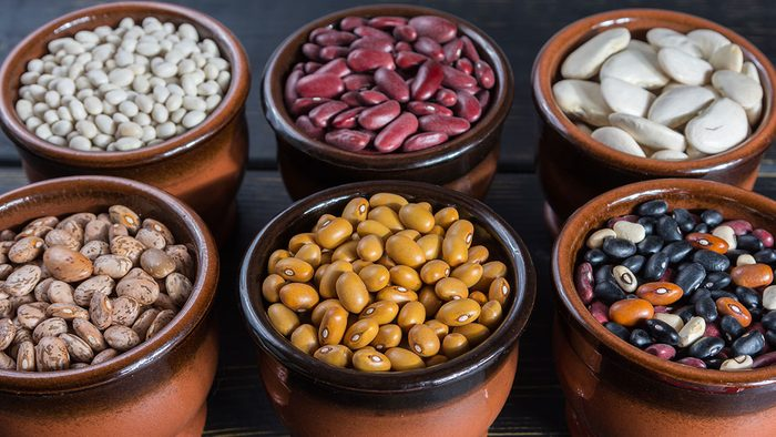 Stomach, beans