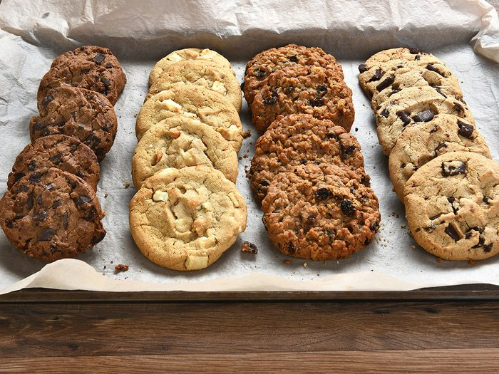 Extreme weight loss, tray of cookies