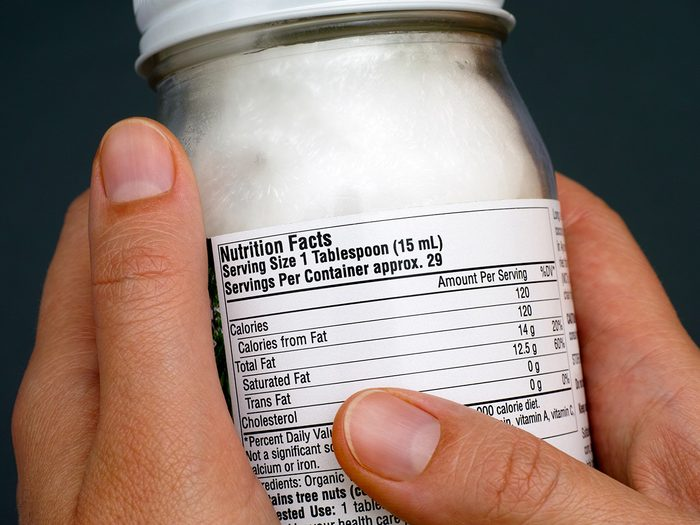 Extreme weight loss, a person reads the label on a jar