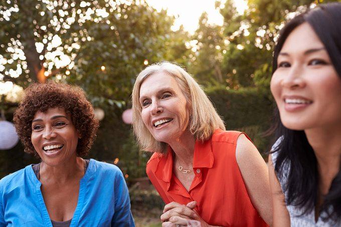 Aging, three beautiful women